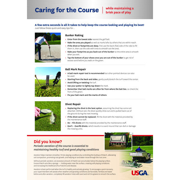 Care for the Course Poster