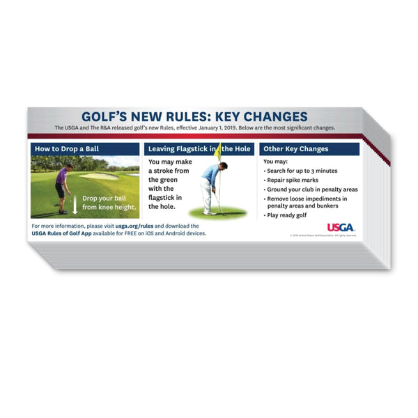 Golf's New Rules: Key Changes – Cart Sticker/Decals