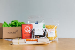 Gift box filled with artisan food products handcrafted in San Francisco by low-income women entrepreneurs
