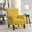 Button Back Armchair Accent High Back Upholstered Linen