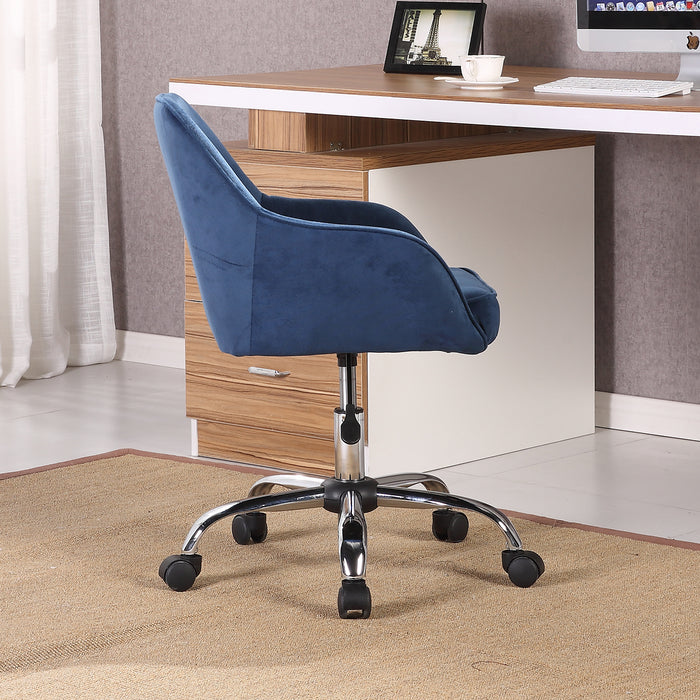 Velvet Modern Office Chair Adjustable Swivel Height W/ Wheels