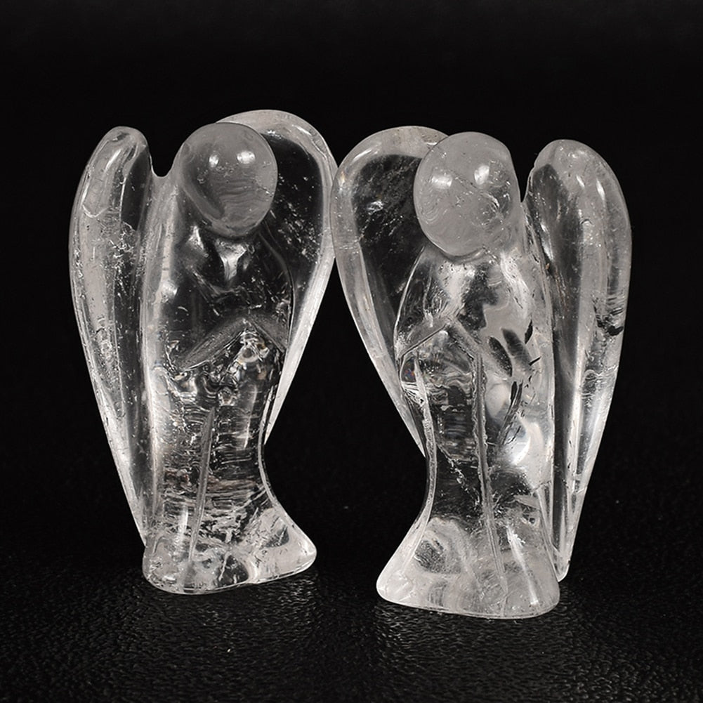 1.5 inches Angel Shape Figurine Crystal Healing Stone