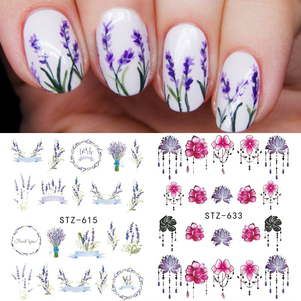 1 PC Colorful  Mixed Flowers Designs Decal - Toyzor.com