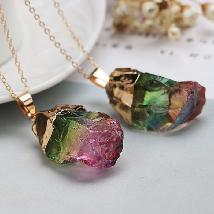Crystal Chakra Rock Necklace