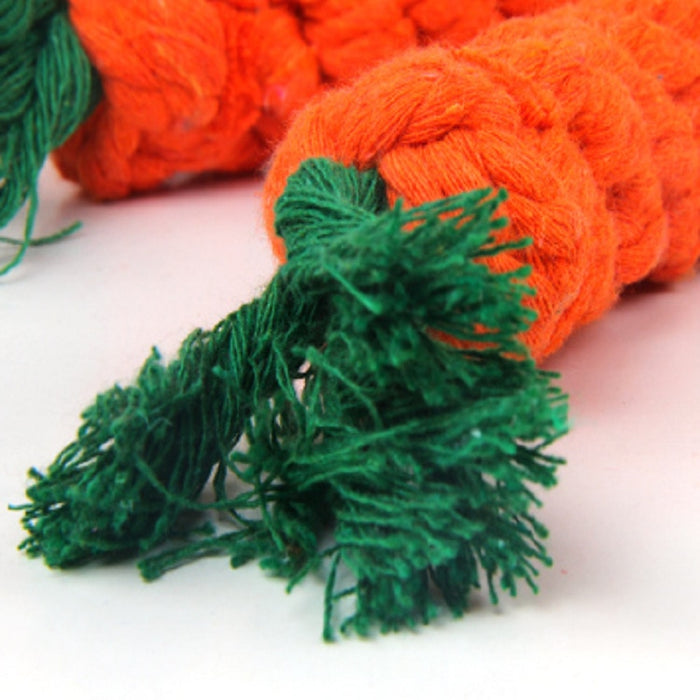 Carrot Shaped Knot Ropes Safe Toys for Small Dog/Cat - Toyzor.com