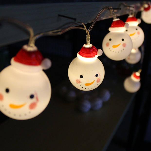 LED Outdoor String Light Garden Christmas Snow Head Ball Party Fairy Lamp