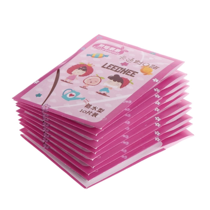 100 Pieces 1 Box Cartoon Waterproof Band-Aid For Kids