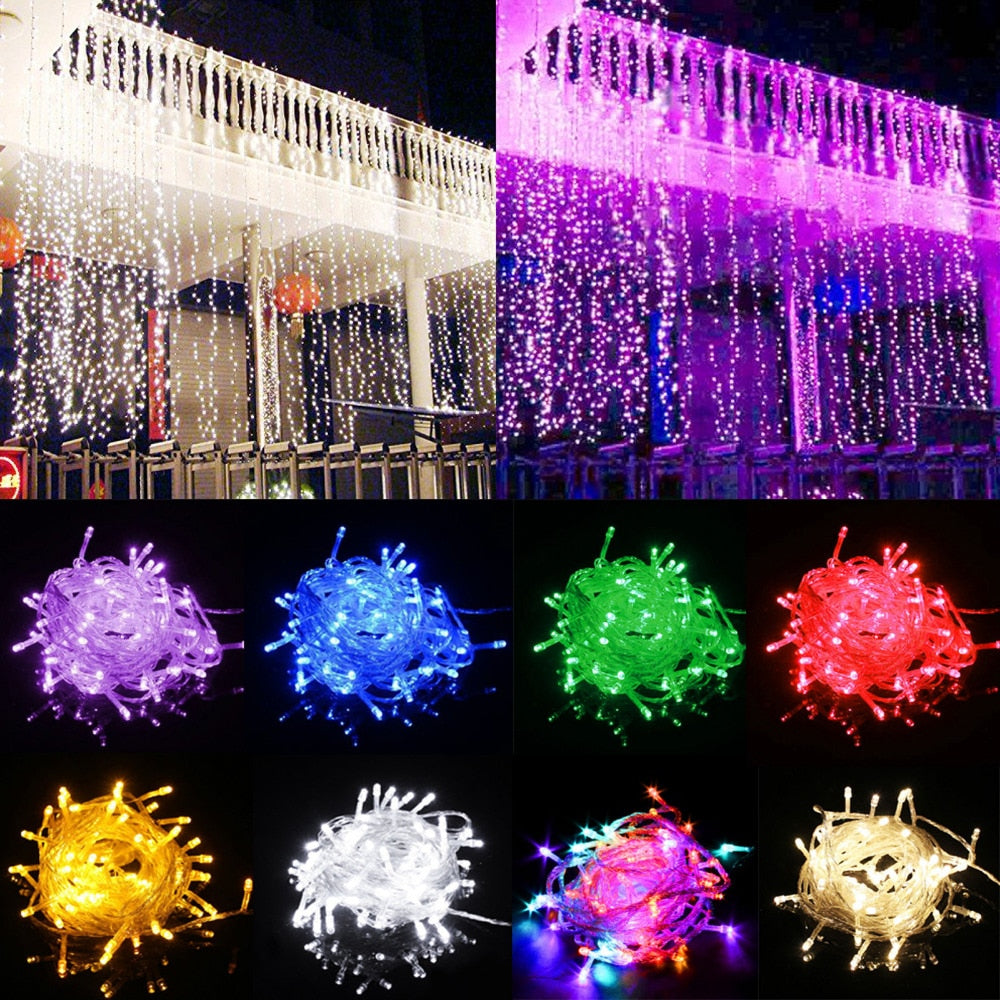 10M 100LED New Green 110V Brightness String Fairy Festival Light Lamp Christmas tree Decor