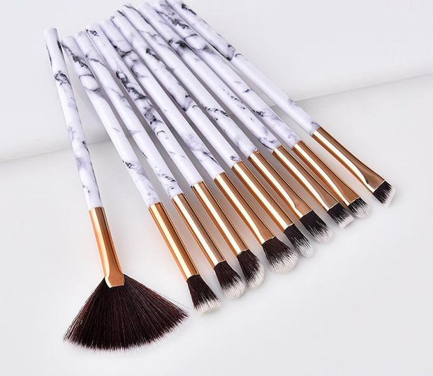 10 Pieces/Set Marbling Makeup Brushes