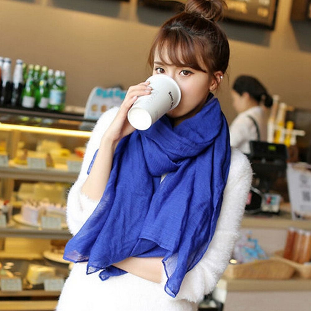Candy Colored Soft Cotton Scarf - Toyzor.com