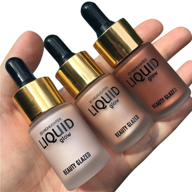 Liquid Make Up Highlighter Cream Concealer Shimmer Face Glow Ultra-concentrated