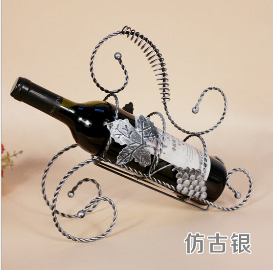 European Style Maple Leaf Red Wine Rack Bottle Holder