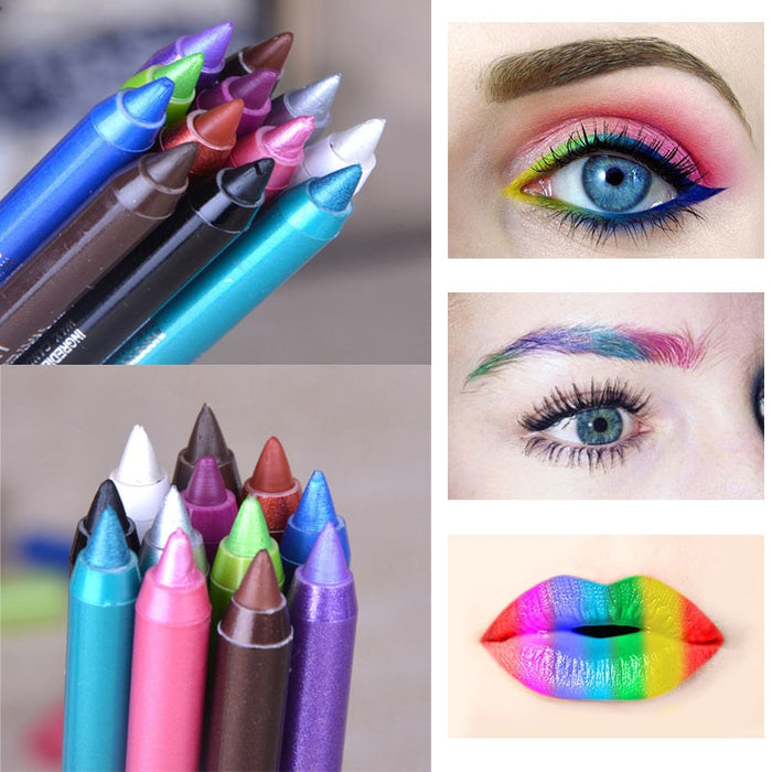Waterproof Long-lasting Eye Liner Pencil Pigment White Color