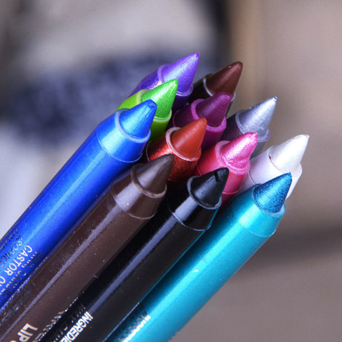 Long-lasting Waterproof Eye Liner Pencil Pigment White Color