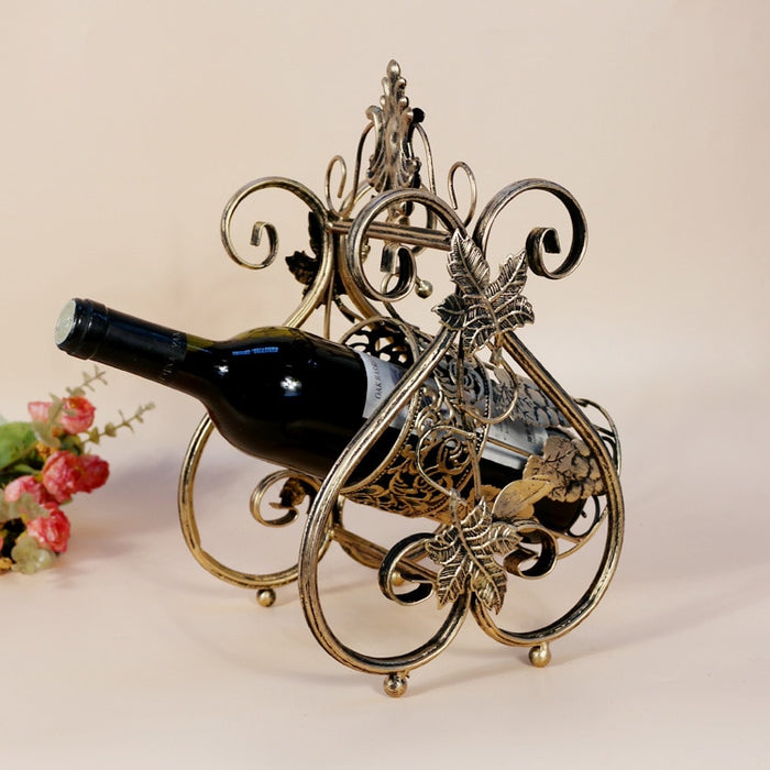 European Wine Rack Iron Swing