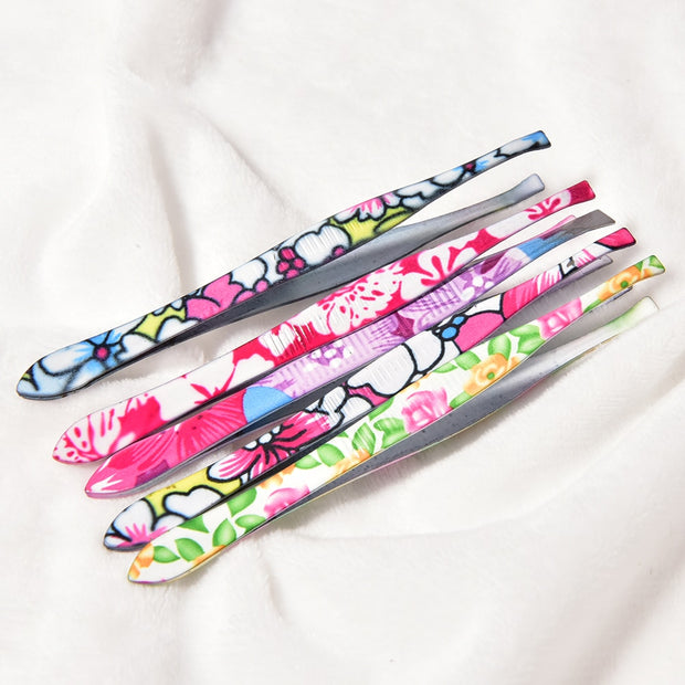 Stainless Steel Flower Eyebrow Tweezers