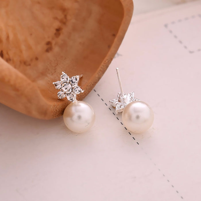 Elegant Pearl Crystal Earrings