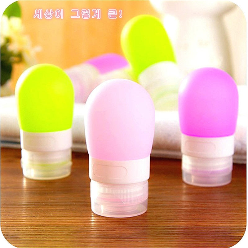 1 Piece Portable 38ml 60ml 80ml Empty Silicone Travel Press Bottle For Lotion Shampoo - Toyzor.com