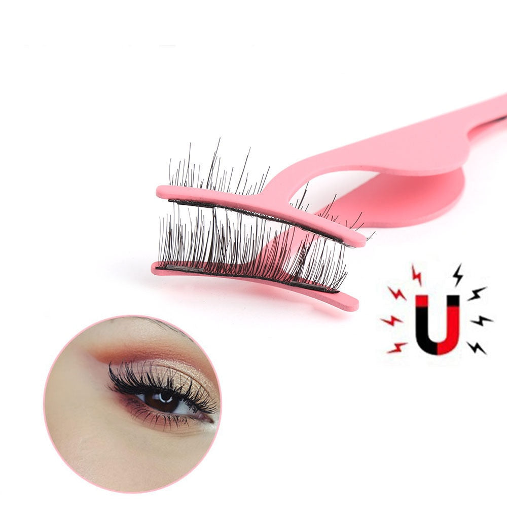 1 Piece Magnetic Eyelashes Extension Applicator Stainless Steel Curler