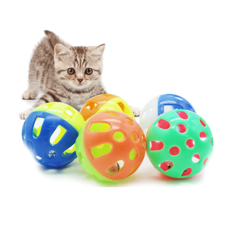 1pc Cats Toys Hollow Bell Funny  Interactive Ball - Toyzor.com