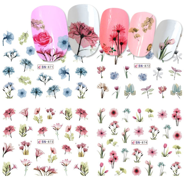 1 PC Flower Leaf Design Nail Art - Toyzor.com