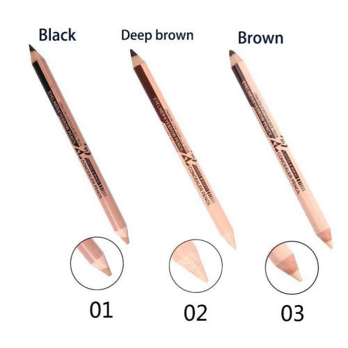 2 in1 Double Ended Waterproof Long-lasting Eyeliner Pen+Concealer - Toyzor.com