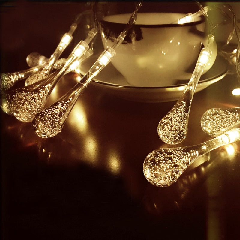 SOLAR Christmas String Lights Wedding Drops LED String Christmas Decorations For Home