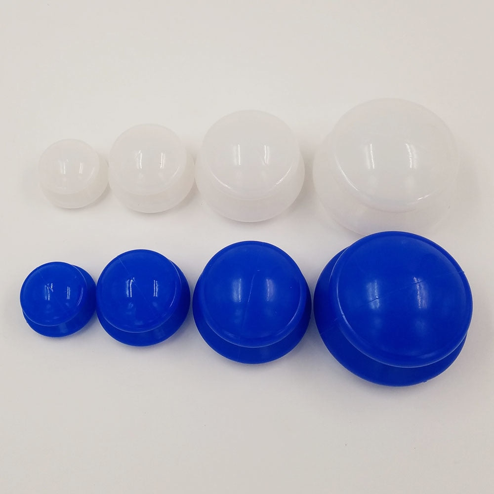 4Pcs Moisture Absorber Anti Cellulite Vacuum Cupping Cup Silicone