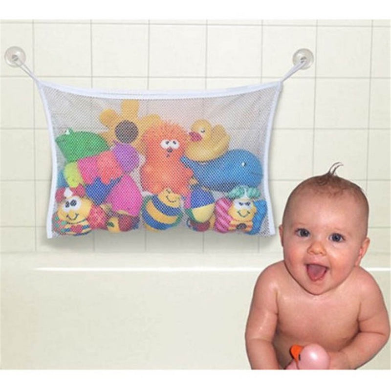 Baby Bath Tub Toy Tidy Storage Suction Cup Bag Mesh - Toyzor.com