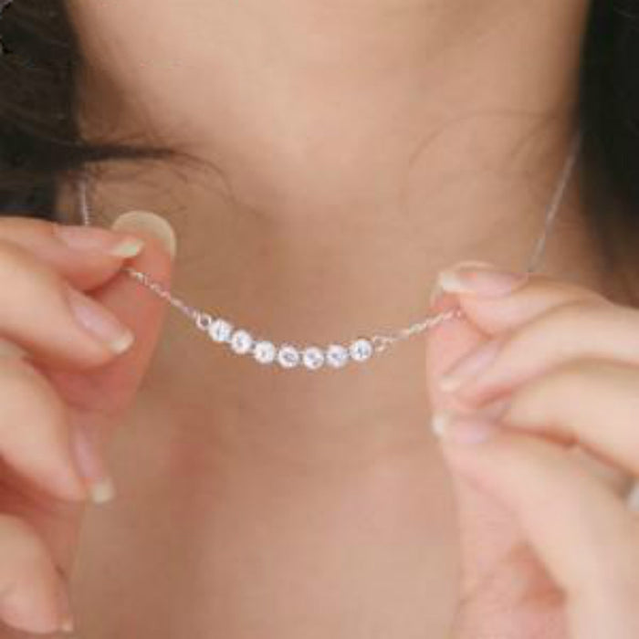 Silver Plated Crystal Necklace