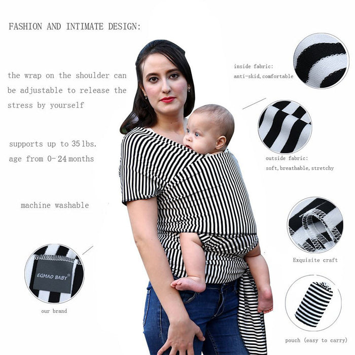 Baby Carrier Sling For Newborns Soft Infant Wrap Breathable Wrap - Toyzor.com