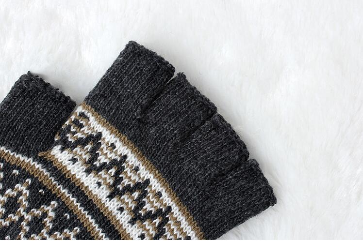 Winter Finger Cashmere Knitted Gloves