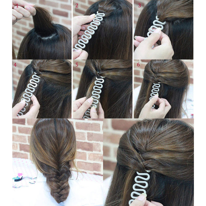 6 Colors Hair Braiding Tool With Magic Hair Twist - Toyzor.com