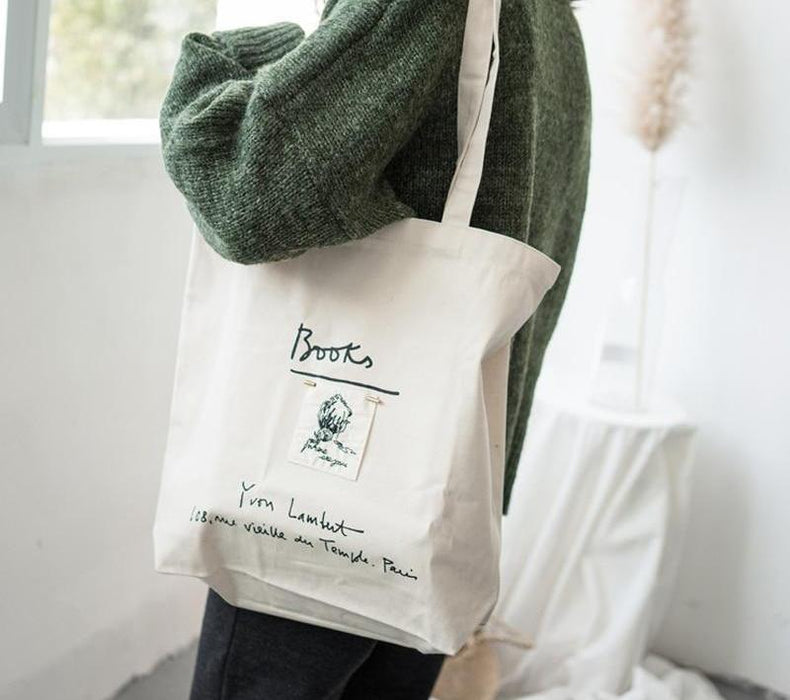 Fashion Women Shopping Canvas Bag - Toyzor.com