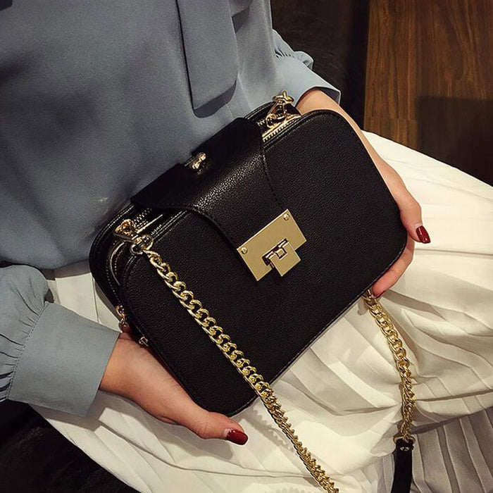 Hilary Clutch Bag With Metal Buckle