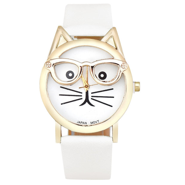 Cat Face Wristwatch  - Multiple Colors