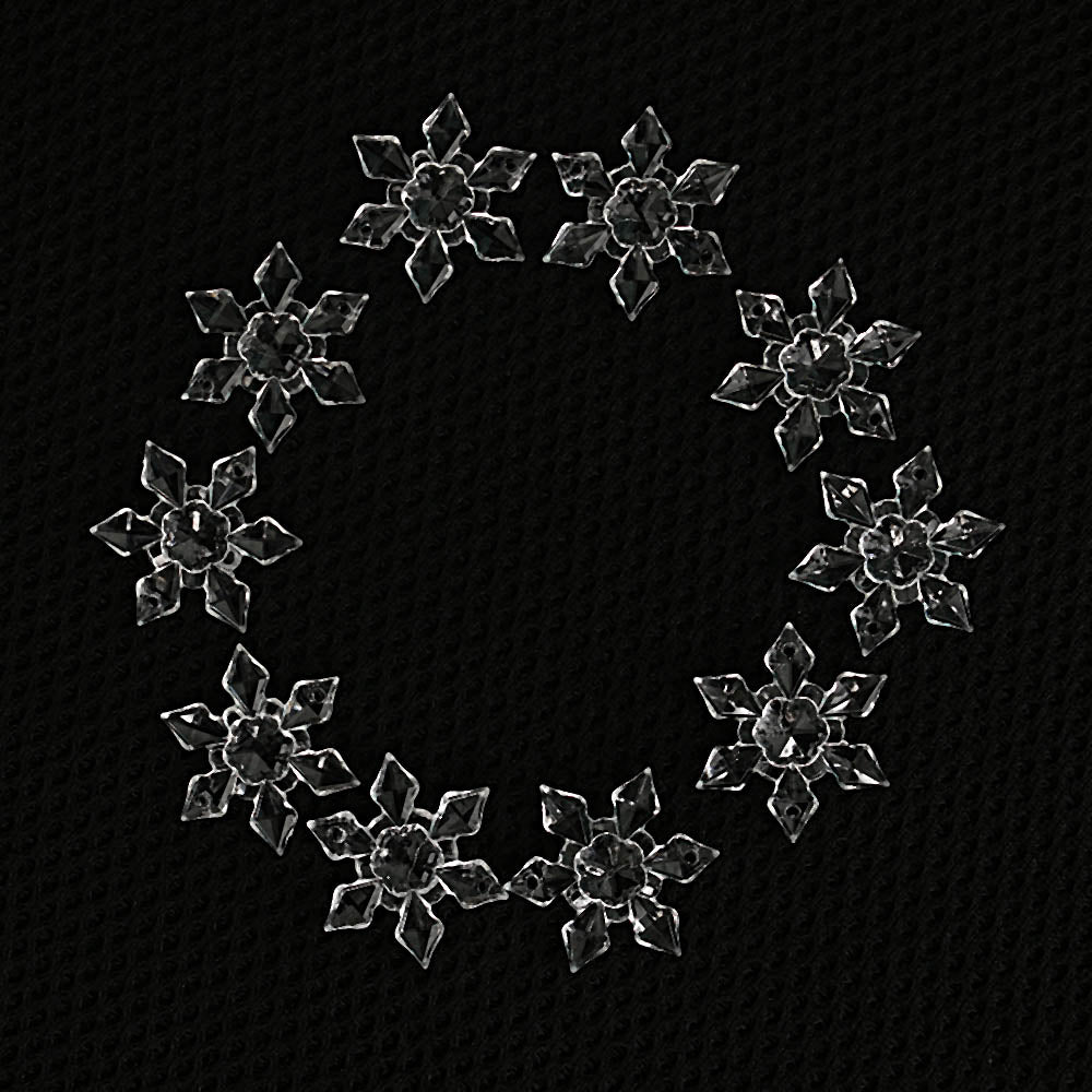 20PCS/Pack Acrylic Craft Christmas Snowflake Tree Window Christmas Decorations
