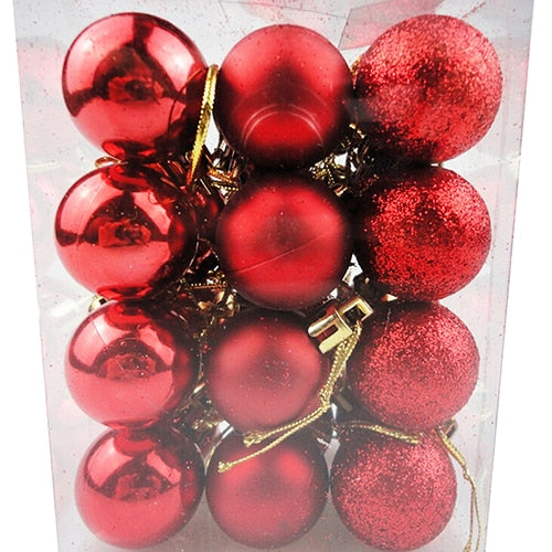24pcs/lot Bauble Hanging Christmas Tree Decor Ball