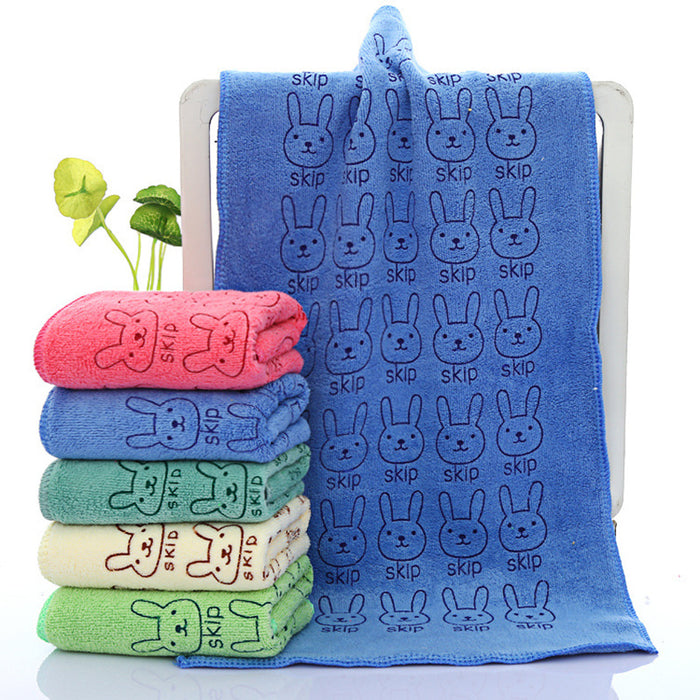 25*50cm Cute Baby Towel Face Microfiber Absorbent