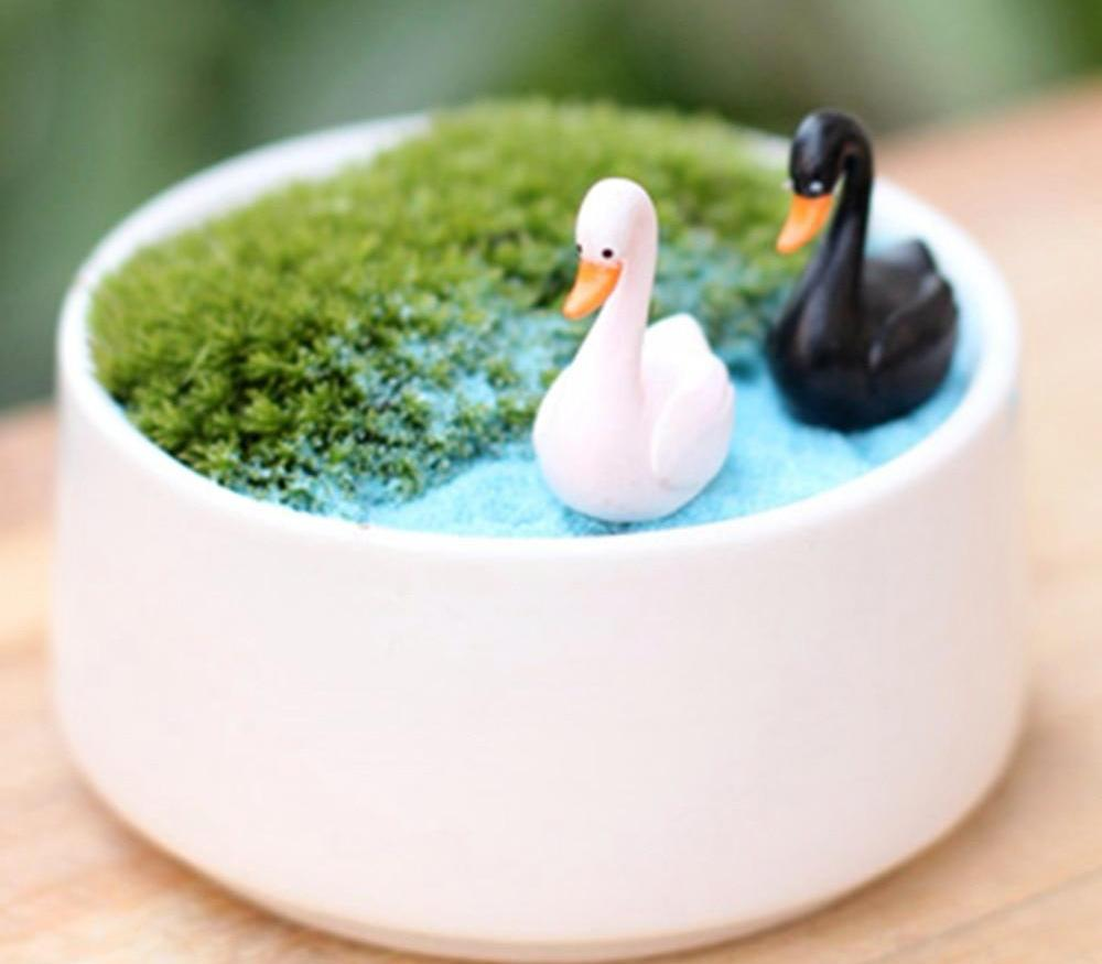 White Black Swan Crafts - 2 Pcs - Toyzor.com