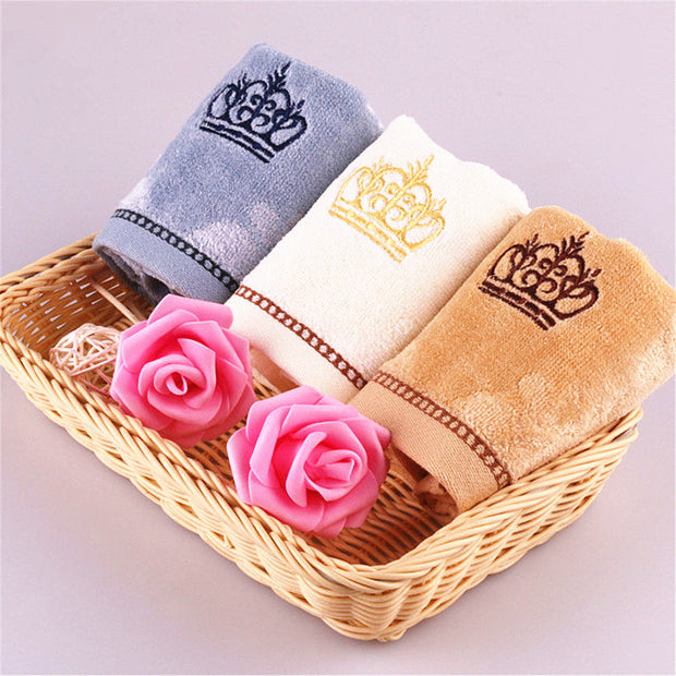 100% Cotton Crown Embroidery Face Towel