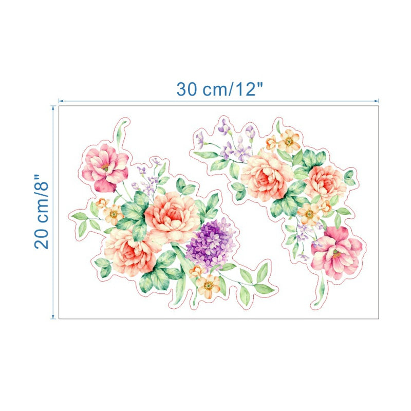 3D New Peony Flower Refrigerator Wall Stickers