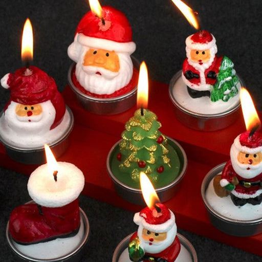 3pcs/pack Christmas Decorative Cute Santa Claus Candles Home Decoration