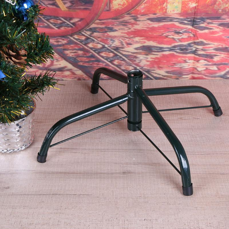 4 Feet Green Tree Stand Foot Iron Metal Christmas Tree Shelf Holder Support