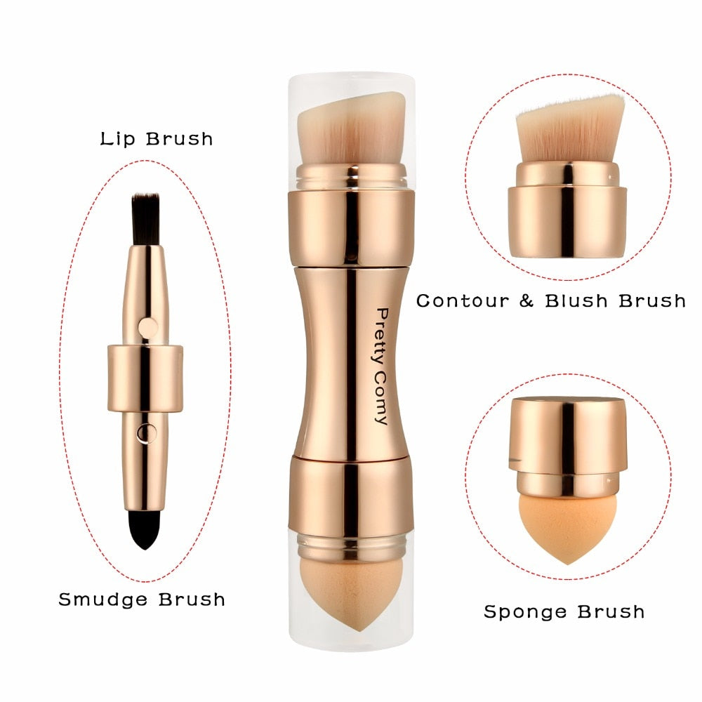 4 in 1 Professional Makeup Tool Foundation Eyebrow Eyeliner Blush Powder Concealer Brushes