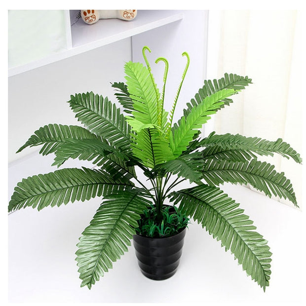 Artificial Silk Foliage Plant Simulation Plastic Large Boston Fern