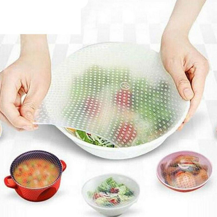 Silicone Food Wrap Cover Stretch - 4 Pcs.