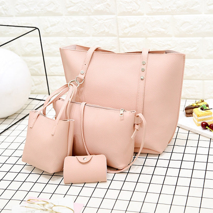 4 Pieces Large Capacity Leather Handbags - Toyzor.com