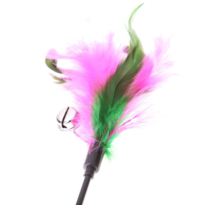 5Pcs Feather Cat Toys Funny Bell Rod - Toyzor.com