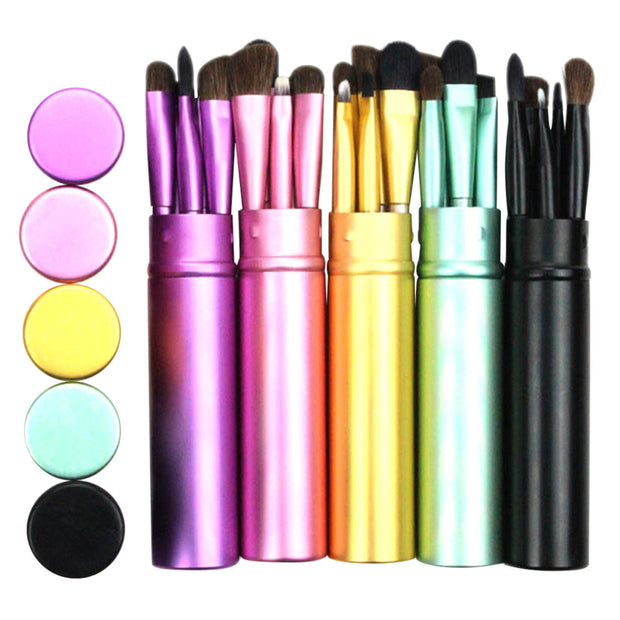 5 Pieces Professional Eyeshadow Round Tube Makeup Brush